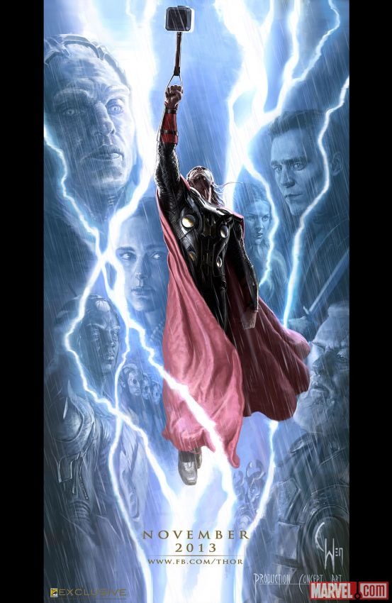 Thor: The Dark World CCI Poster; Image courtesy of comicbookresources.com